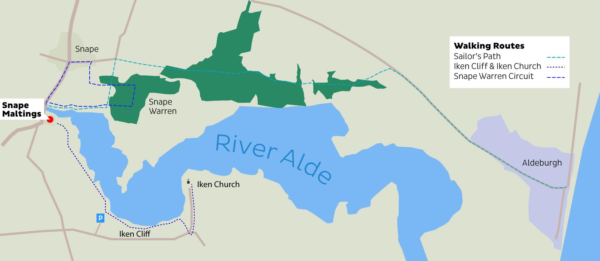 snape-aldeburgh-map