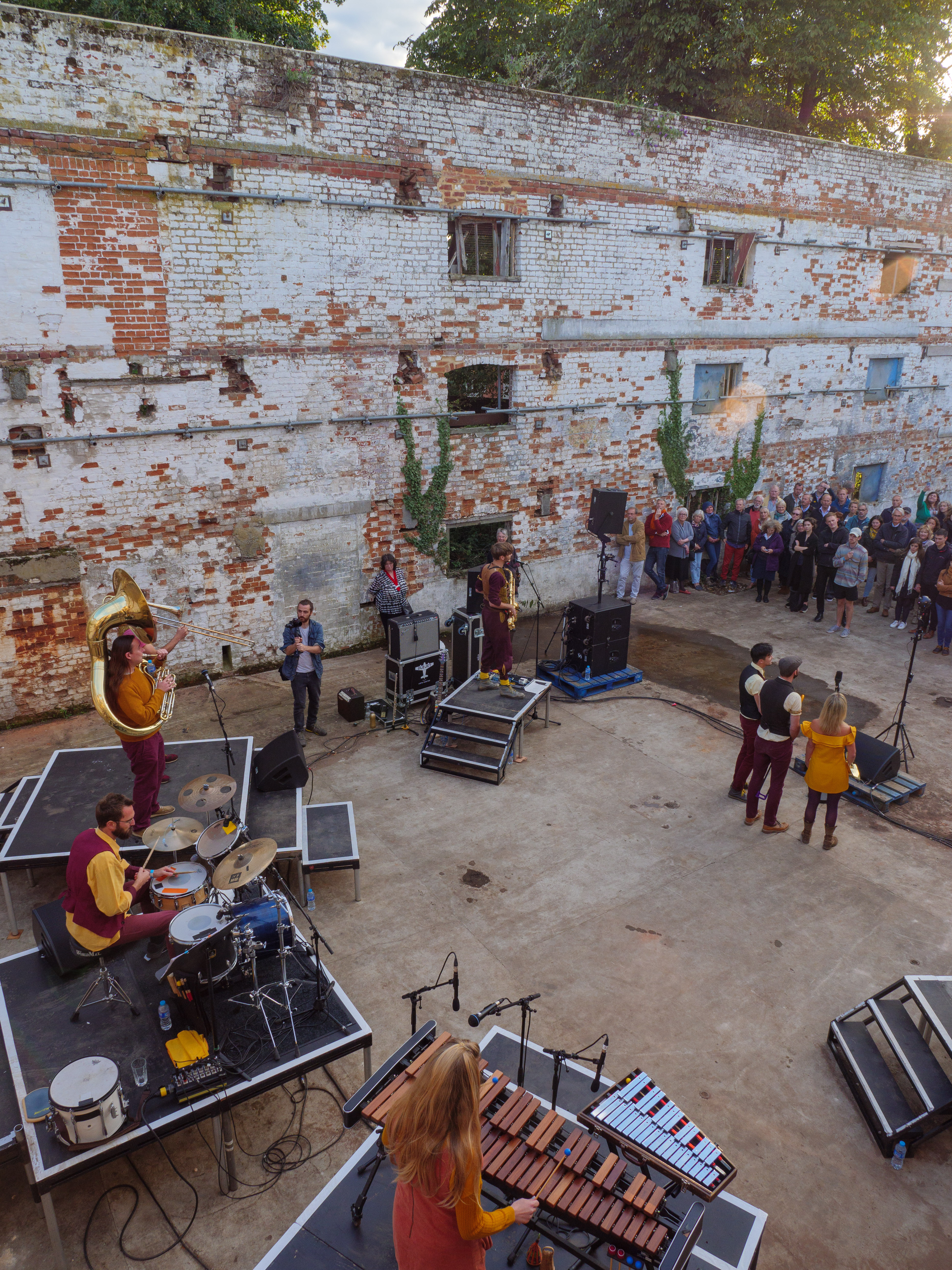 Perhaps Contraption perform in the derelict buildings at Snape M